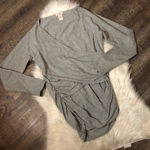 Sundance Grey Vanessa Faux Wrap Top